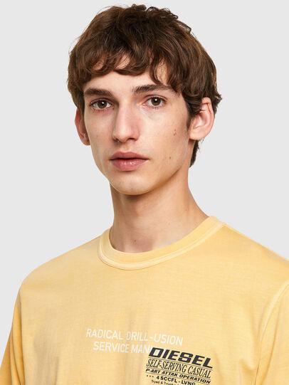 Diesel - T-JUBINDY-B1, Giallo - T-Shirts - Image 3