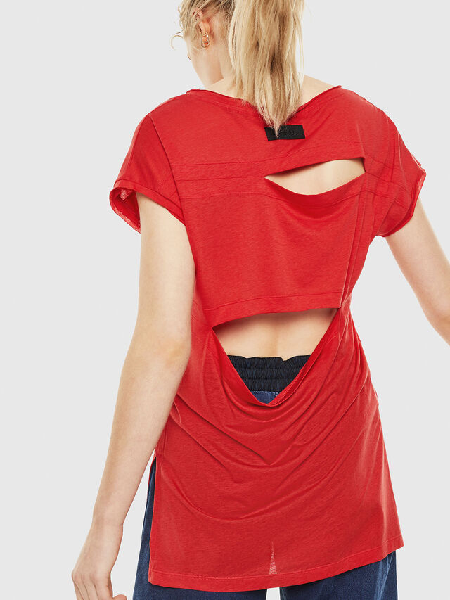 Diesel - T-DIMMY, Rosso Fuoco - Tops - Image 2