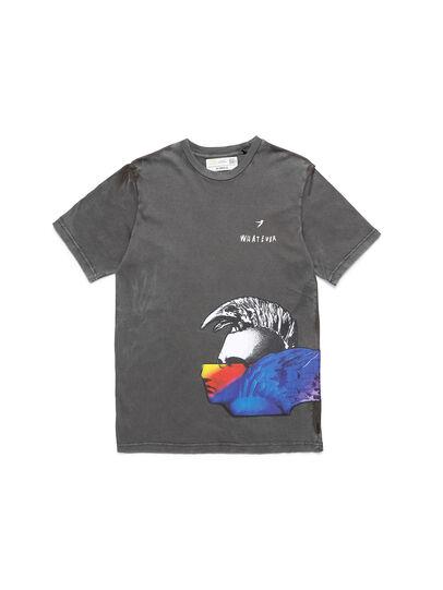 Diesel - D-5055-G, Nero - T-Shirts - Image 1