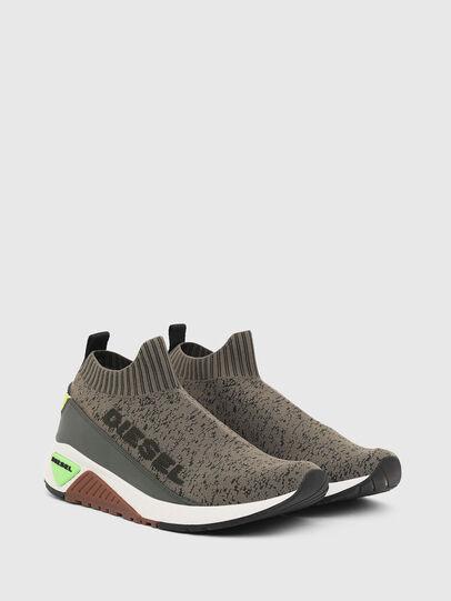 Diesel - S-KB SOCK QB, Verde Oliva - Sneakers - Image 2