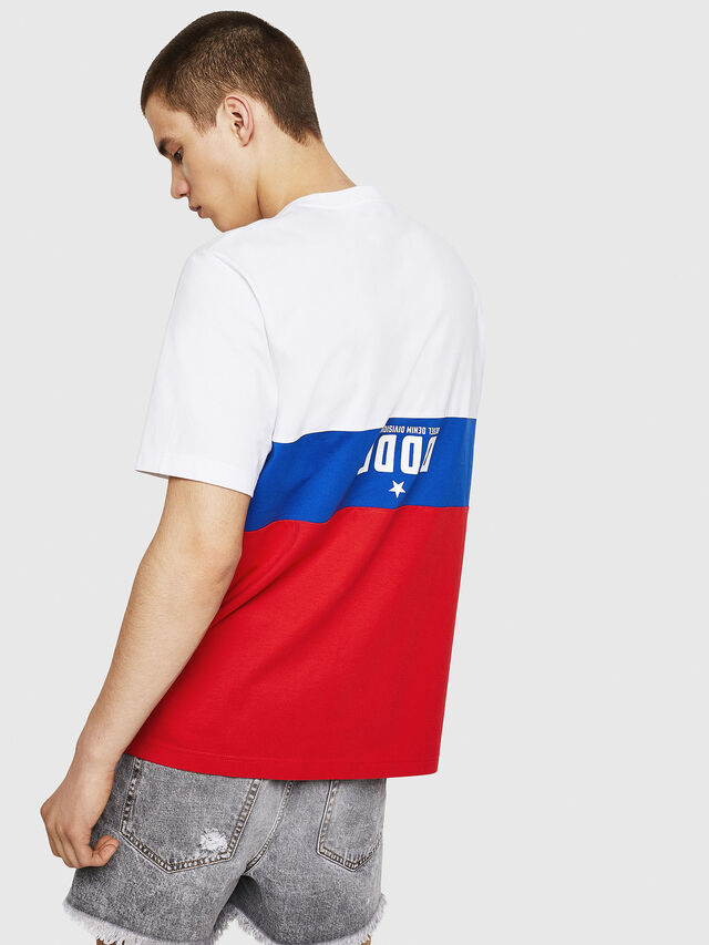 Diesel - T-JUST-A1, Bianco/Rosso/Blu - T-Shirts - Image 2