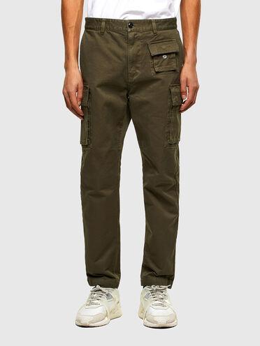 Pantaloni cargo in twill di cotone