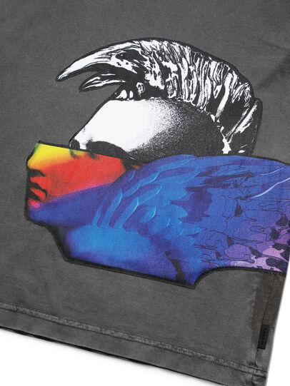 Diesel - D-5055-G, Nero - T-Shirts - Image 3