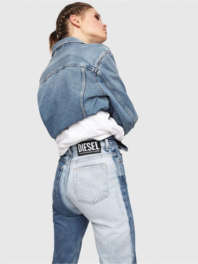 Diesel - D-Eiselle 0077V, Blu medio - Jeans - Image 4