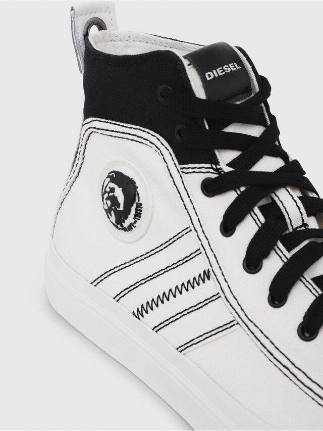 Diesel - S-ASTICO MID LACE, Bianco/Nero - Sneakers - Image 5