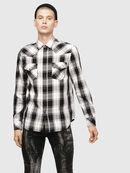 S-EAST-LONG-E, Bianco/Nero - Camicie