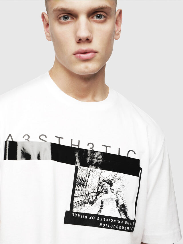 Diesel - T-JUST-YP, Bianco - T-Shirts - Image 3