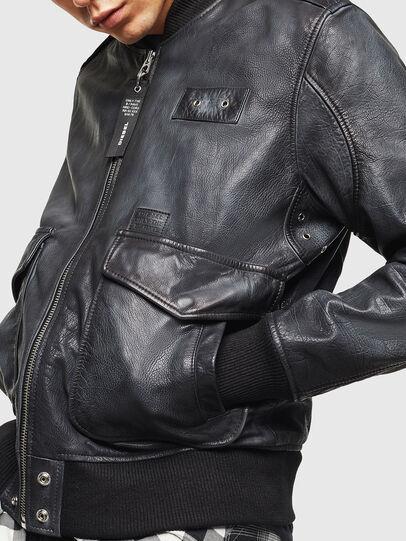 Diesel - L-OIUKI, Nero - Giacche di pelle - Image 6