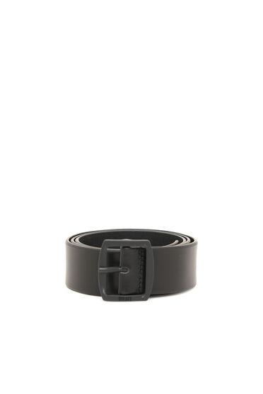 Cintura in pelle con fibbia rotonda