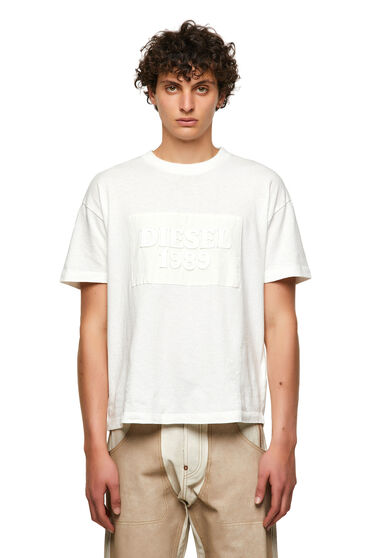 T-shirt DieselXDiesel con applicazione tagliata a vivo