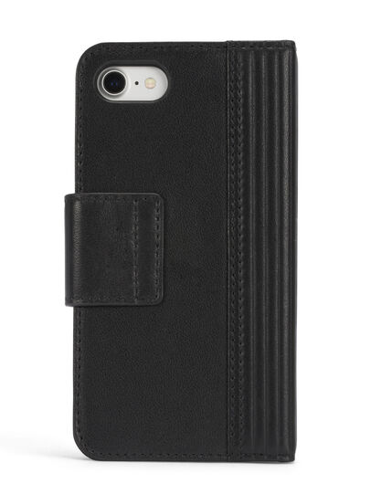 Diesel - BLACK LINED LEATHER IPHONE 8 PLUS/7 PLUS FOLIO,  - Cover a libro - Image 5