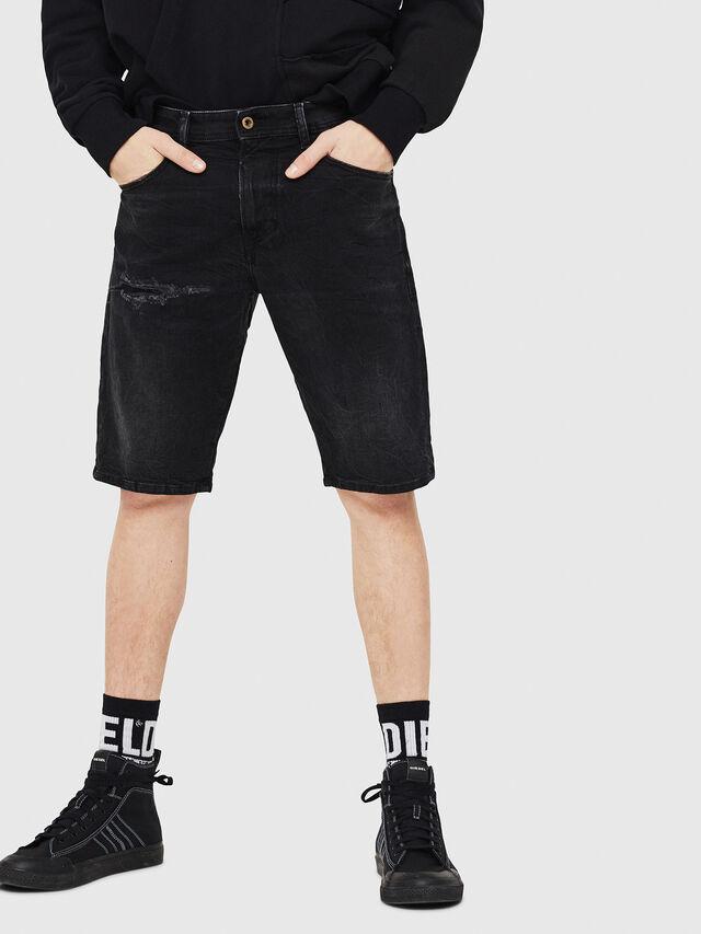 Diesel - THOSHORT, Nero - Shorts - Image 1
