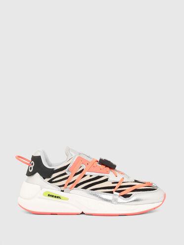 Sneaker in cavallino con stampa zebrata