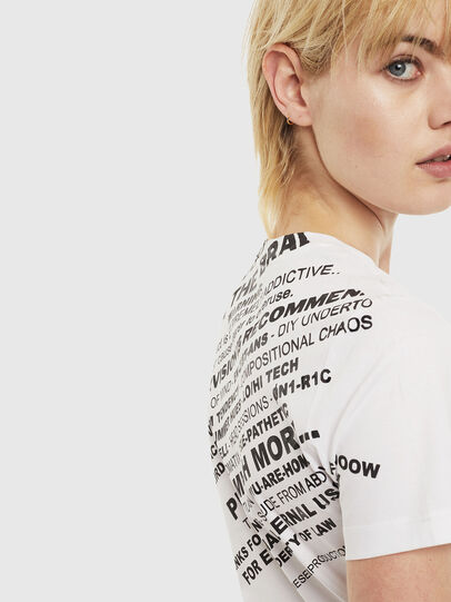 Diesel - T-SILY-S1, Bianco - T-Shirts - Image 3