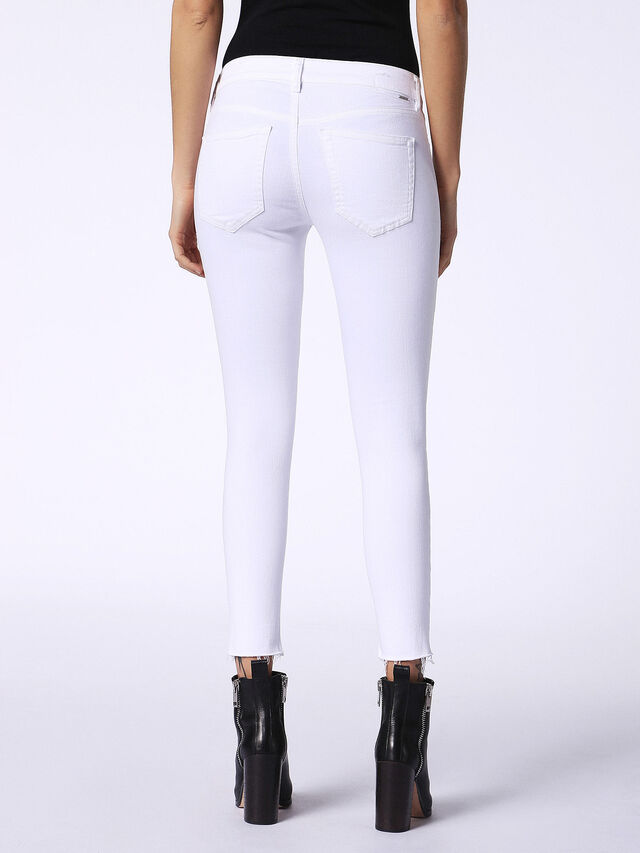 SLANDY-ANKLE 084EX, White Jeans