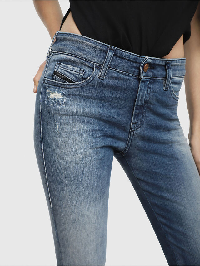 Diesel - Slandy 084MU, Blu medio - Jeans - Image 3