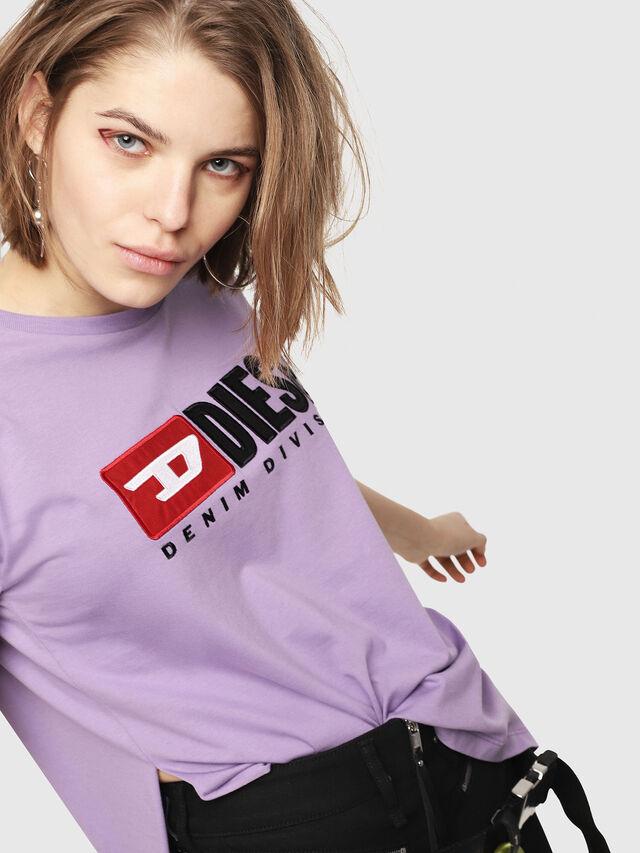Diesel - T-JACKY-D, Lilla - T-Shirts - Image 4