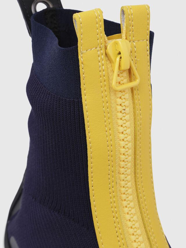 Diesel - H-PADOLA MID ZIP, Blu/Giallo - Sneakers - Image 5