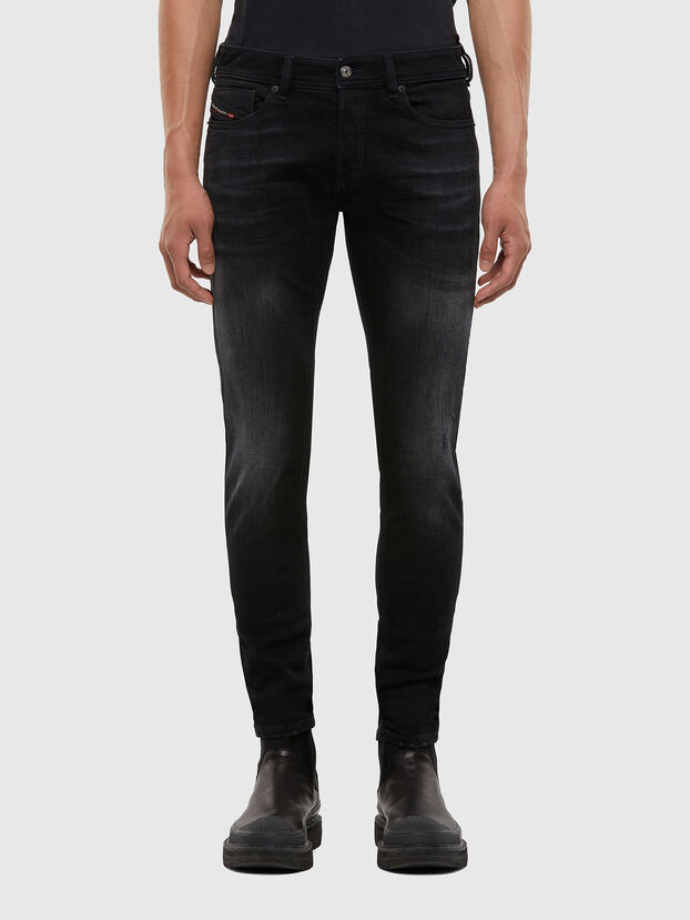Sleenker 0092B, Nero/Grigio scuro - Jeans