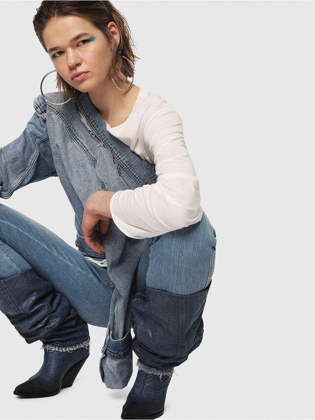 Diesel - Babhila High 081AF, Blu Chiaro - Jeans - Image 4