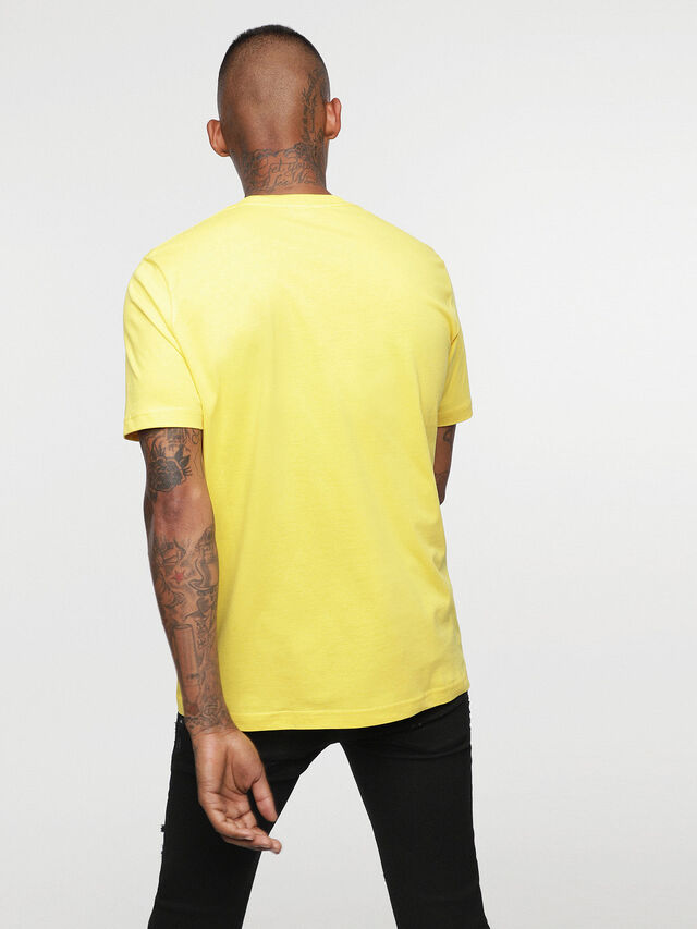 Diesel - HC-T-JUST-DIVISION-B, Giallo - T-Shirts - Image 5