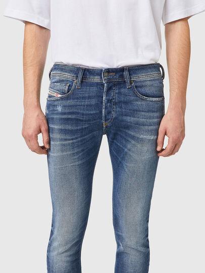 Diesel - Sleenker 09A86, Blu Chiaro - Jeans - Image 3