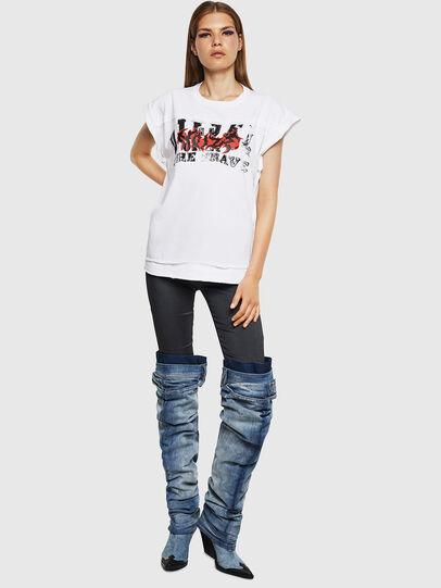 Diesel - T-JAIDA-A, Bianco - T-Shirts - Image 4