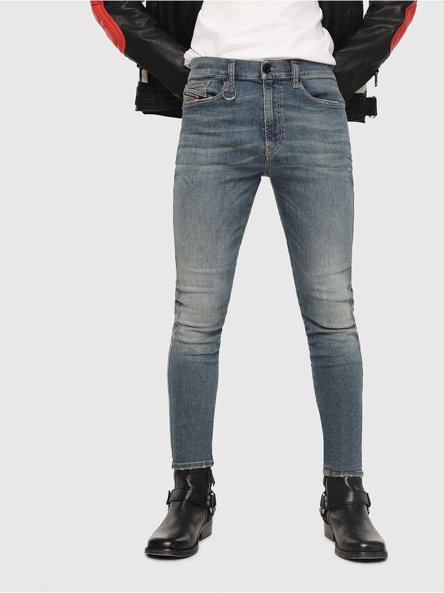 Diesel - D-Istort 085AZ, Blu medio - Jeans - Image 1