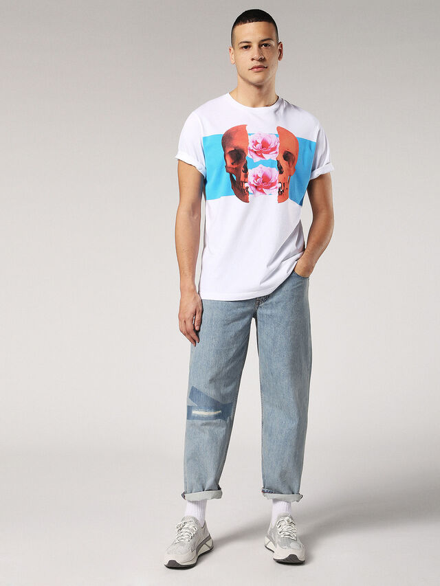 Diesel - T-JUST-SW, Bianco - T-Shirts - Image 4