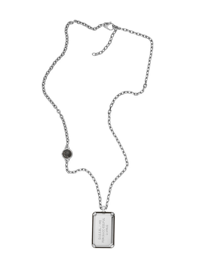 Diesel NECKLACE DX1019, Argento - Collane - Image 1