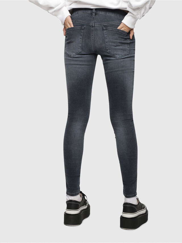 Diesel - Slandy Low 069BT, Blu Scuro - Jeans - Image 2
