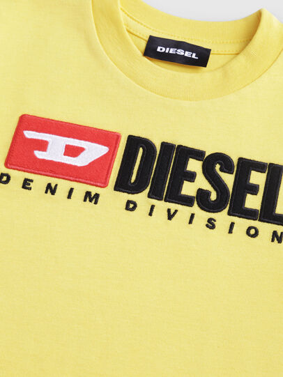 Diesel - TJUSTDIVISIONB-R, Giallo - T-shirts e Tops - Image 3
