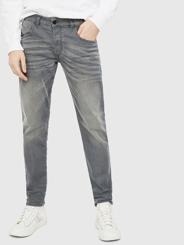 Diesel - D-Bazer 0699P, Grigio Jeans - Jeans - Image 1