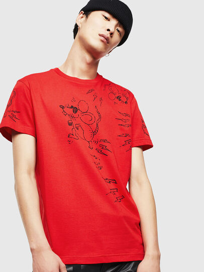 Diesel - CL-T-DIEGO-3, Rosso - T-Shirts - Image 1