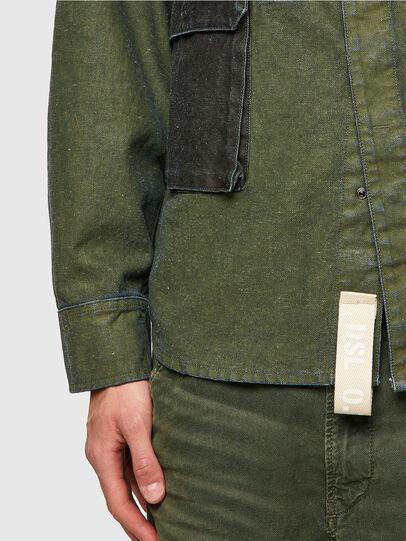 Diesel - D-CORU-SP, Verde Militare - Camicie in Denim - Image 3