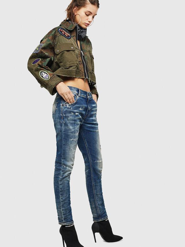 Diesel - Krailey JoggJeans 0870Q, Blu medio - Jeans - Image 6