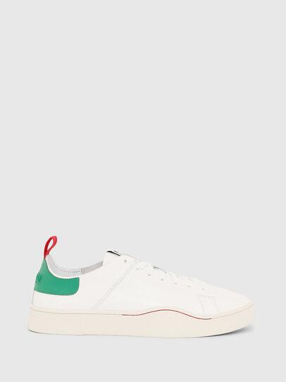Diesel - S-CLEVER LS, Bianco/Verde - Sneakers - Image 1