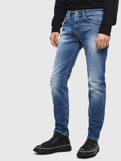 Diesel - Thommer 0096D, Blu Chiaro - Jeans - Image 4