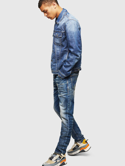 Diesel - Thommer JoggJeans 0870Q, Blu medio - Jeans - Image 6