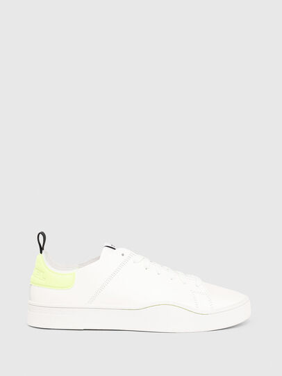 Diesel - S-CLEVER LS, Bianco/Giallo - Sneakers - Image 1