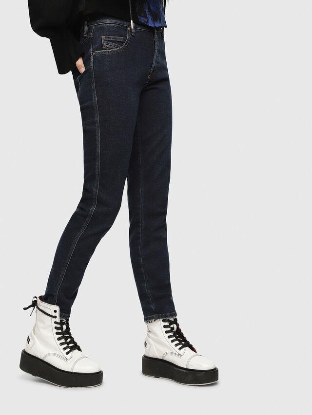 Diesel - Babhila 084YD, Blu Scuro - Jeans - Image 1