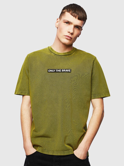 Diesel - T-JUST-SLITS-T15, Giallo - T-Shirts - Image 1