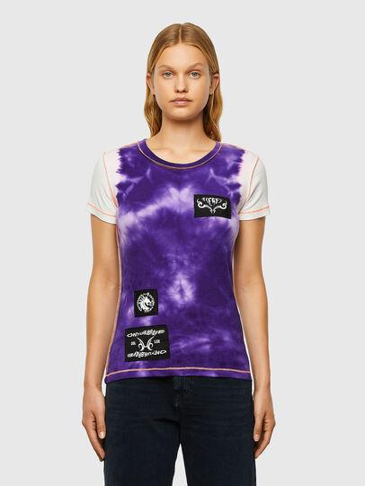 Diesel - T-SUPERY-V10, Bianco/Viola - T-Shirts - Image 1