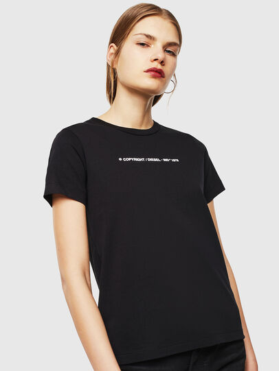 Diesel - T-SILY-COPY, Nero - T-Shirts - Image 1