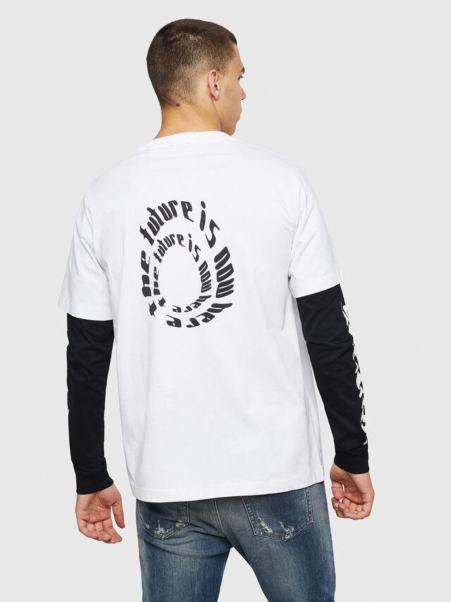 Diesel - T-SHOOT-B2, Bianco/Nero - T-Shirts - Image 2