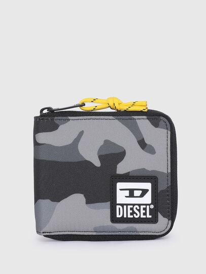 Diesel - ZIPPY HIRESH S II, Grigio/Nero - Portafogli Con Zip - Image 1