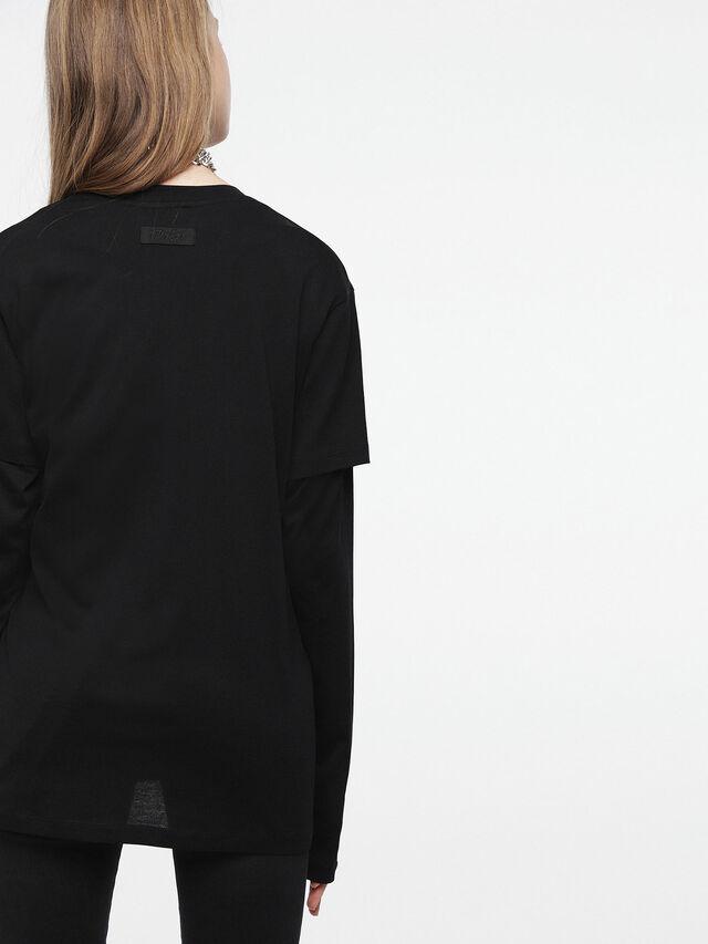 Diesel - T-DARIA-C, Nero/Rosa - T-Shirts - Image 2