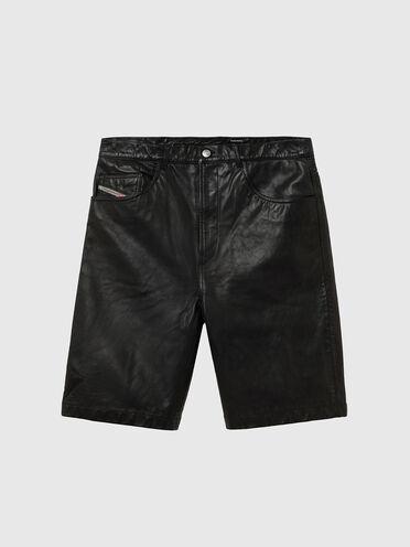 Shorts in pelle con cinque tasche