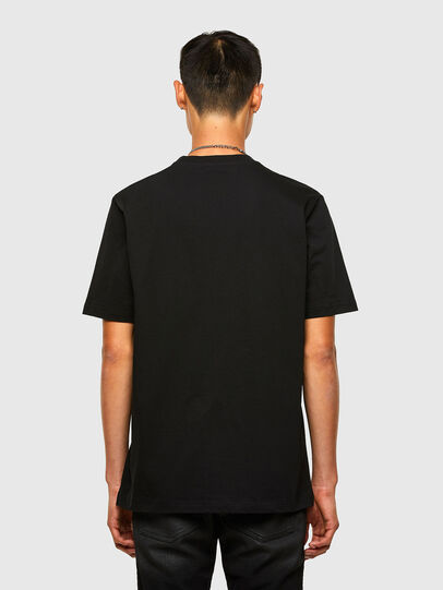 Diesel - T-JUST-SLITS-A30, Nero - T-Shirts - Image 2