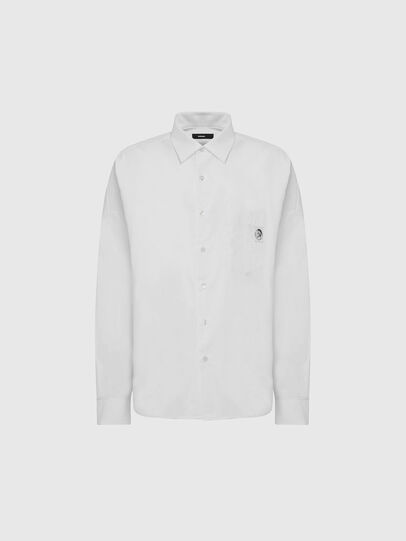Diesel - S-LOOMY-A, Bianco - Camicie - Image 1